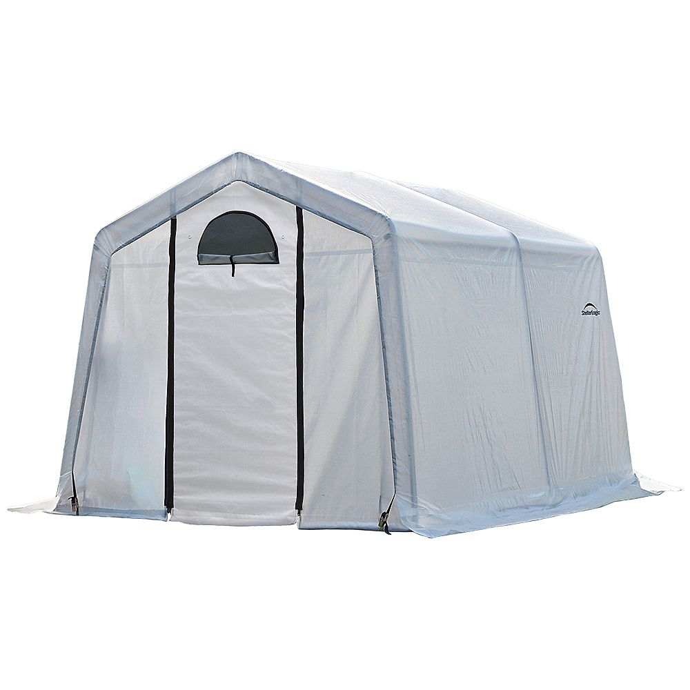 ShelterLogic GrowIt Greenhouse-In-A-Box 10 ft. x 10 ft. x 8 ft. Easy Flow Peak-Style Greenhouse