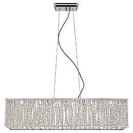 Saynsberry 33W Equivalent Chrome Integrated LED Pendant with Clear Crystal Strand Shade