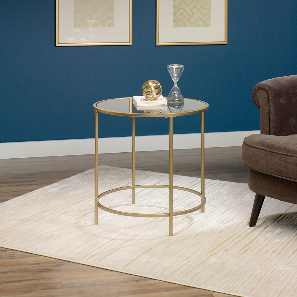 Sauder Side Table Round