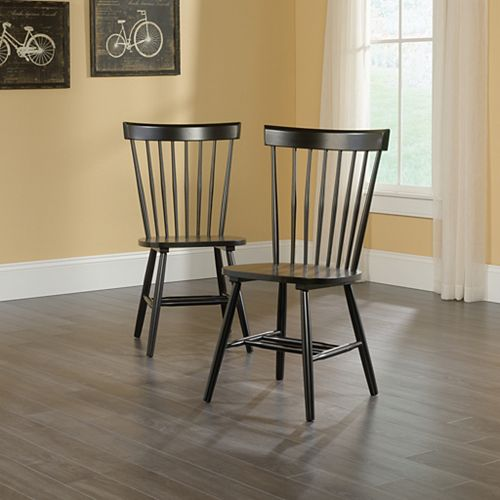 Cottage Round Spindle Back Chairs (Set of 2)