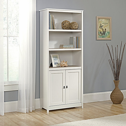 Cottage Road Library with Doors in Soft White