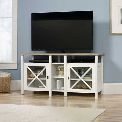 Cottage Road Entertainment Credenza in Soft White