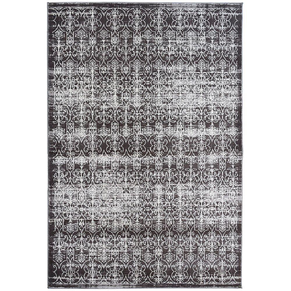 Lanart Rug Carpette d'intérieur, 9 pi x 10 pi, style transitionnel, rectangulaire, gris Vestiges
