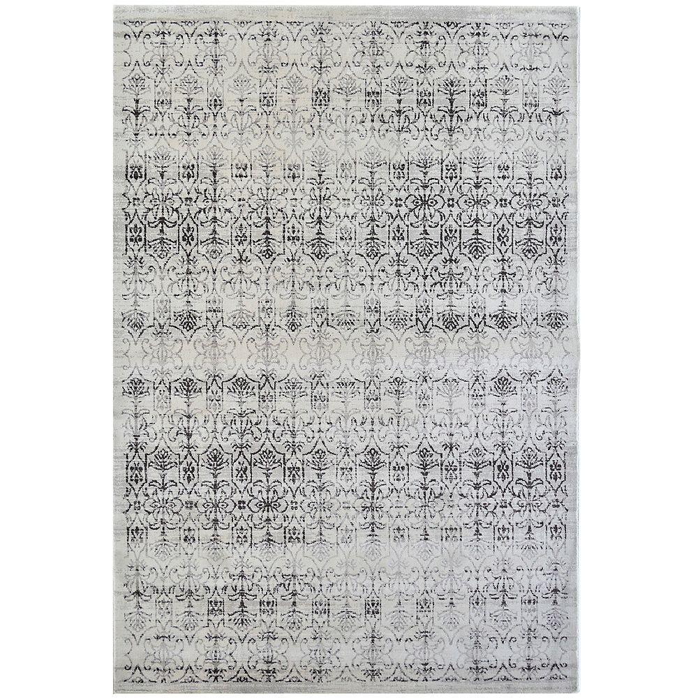 Lanart Rug Vestiges Off-White 3 ft. x 4 ft. 6-inch Indoor Transitional Rectangular Area Rug