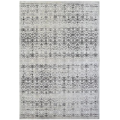 Carpette d'intérieur, 5 pi x 7 pi 6 po, style transitionnel, rectangulaire, blanc cassé Vestiges