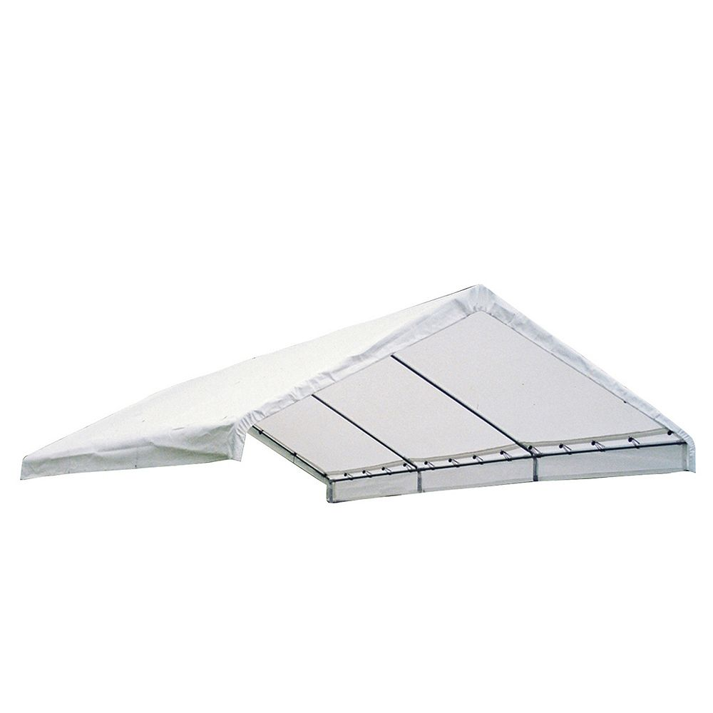 ShelterLogic 18 ft. x 40 ft. Canopy Replacement Cover in White