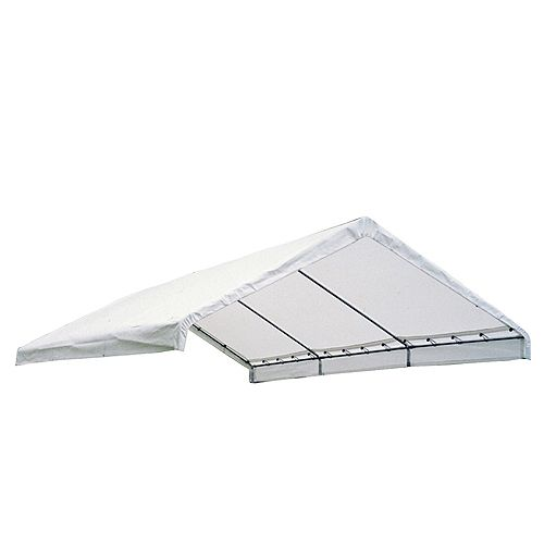18 ft. x 40 ft. Canopy Replacement Cover in White