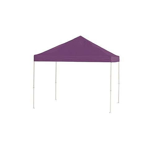 ShelterLogic 10 ft. x 10 ft. Pro Pop-Up Canopy with Straight Legs & Purple Cover