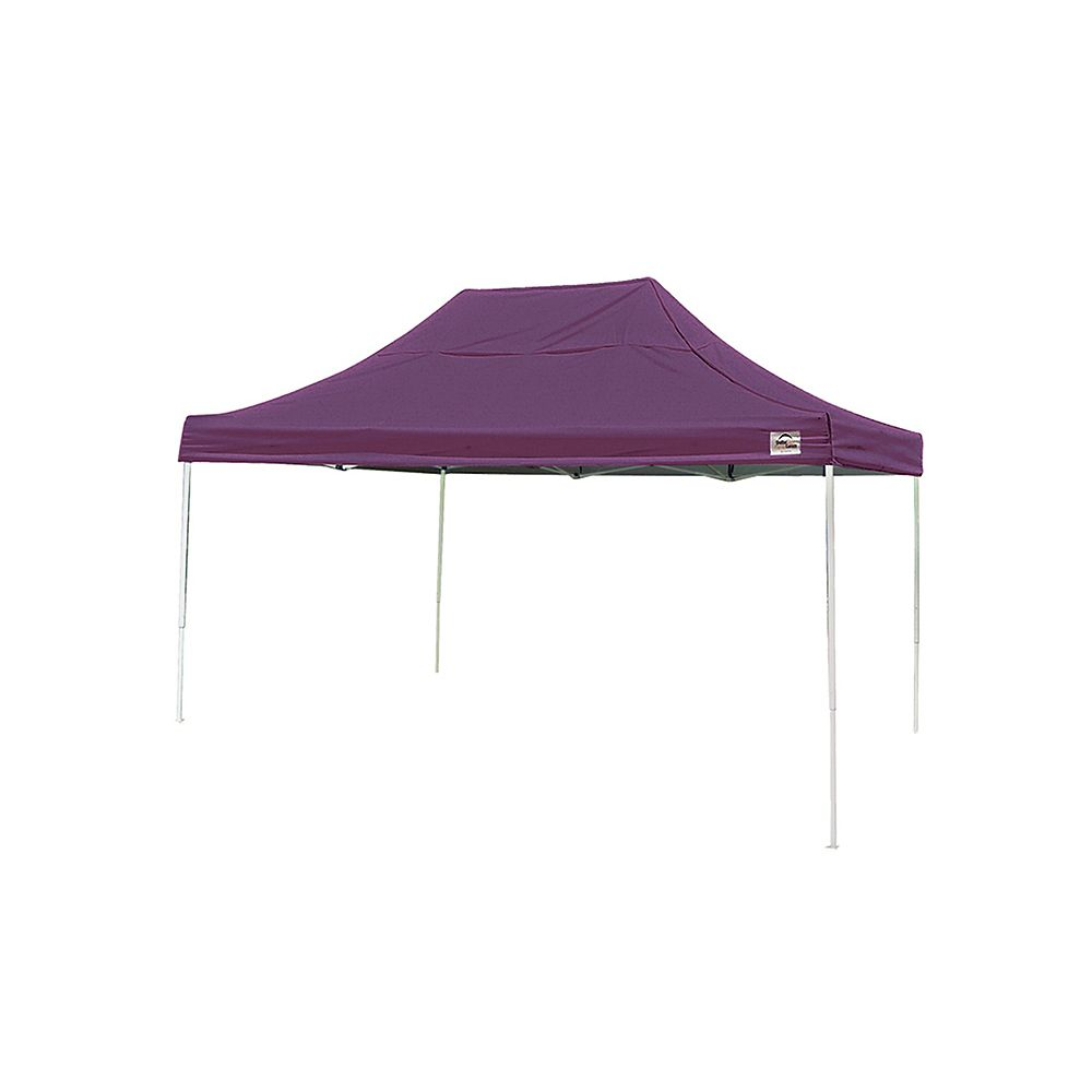 ShelterLogic 10 ft. x 15 ft. Pro Pop-Up Canopy with Straight Legs & Purple Cover