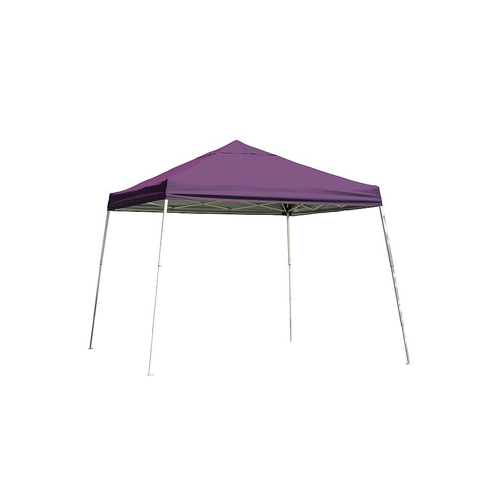 ShelterLogic 12 ft. x 12 ft. Sport Pop-Up Canopy with Slant Legs & Purple Cover