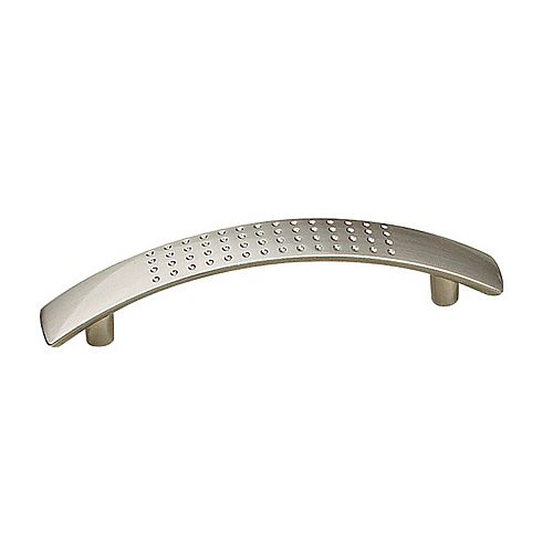 Richelieu Brockton Collection 3 3/4-inch (96 mm) Center-to-Center Brushed Nickel Contemporary Cabinet Pull