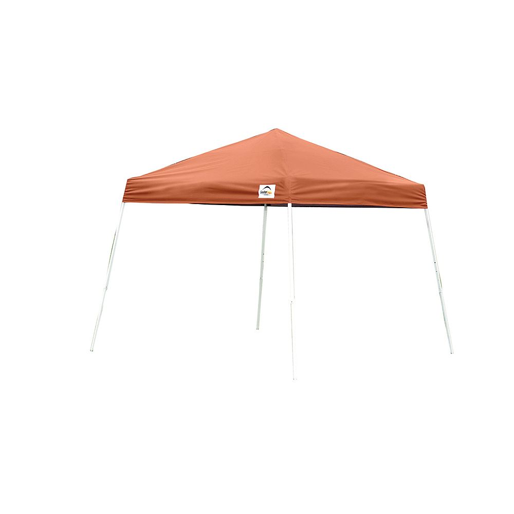 ShelterLogic 12 ft. x 12 ft. Sport Pop-Up Canopy with Slant Legs & Terracotta Cover