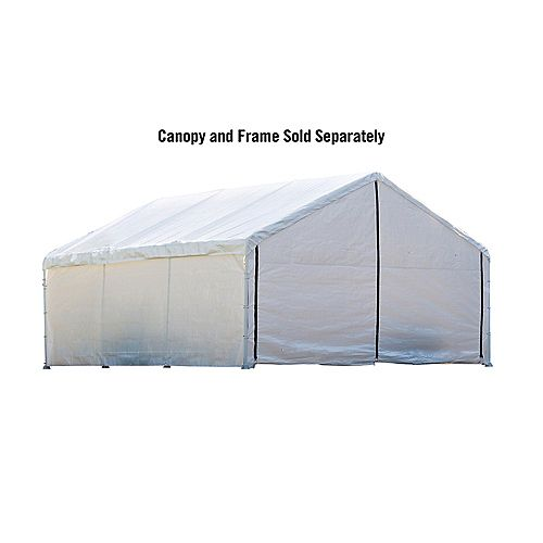 18 ft. x 30 ft. White Canopy Enclosure Kit