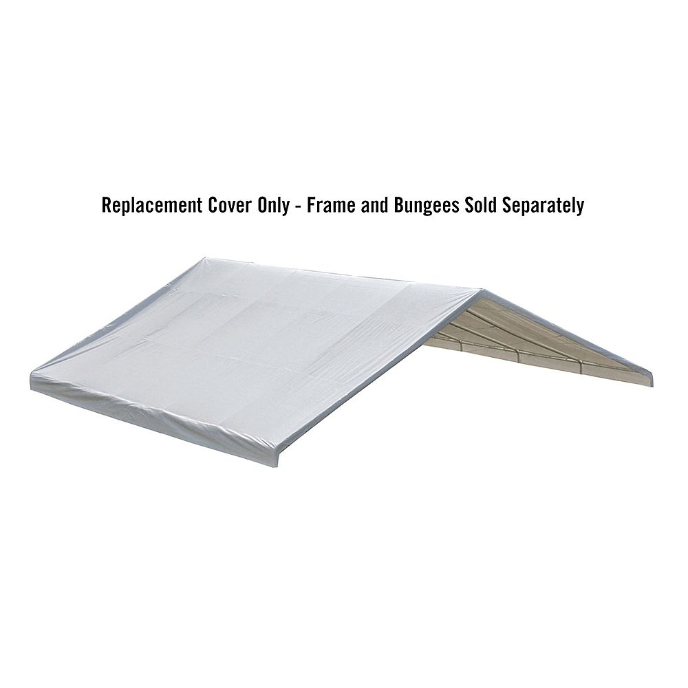 ShelterLogic 30 ft. x 30 ft. Canopy Replacement Cover in White for 2 3/8-inch Frame