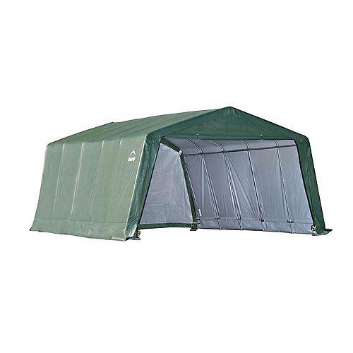 Equine 12 ft. x 20 ft. x 8 ft. Storage Peak-Style Shelter