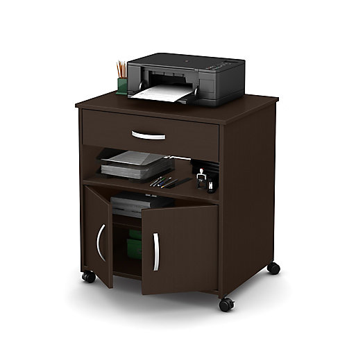 Axess 26-inch x 27.25-inch x 19.75-inch 1-Drawer Manufactured Wood Filing Cabinet in Brown