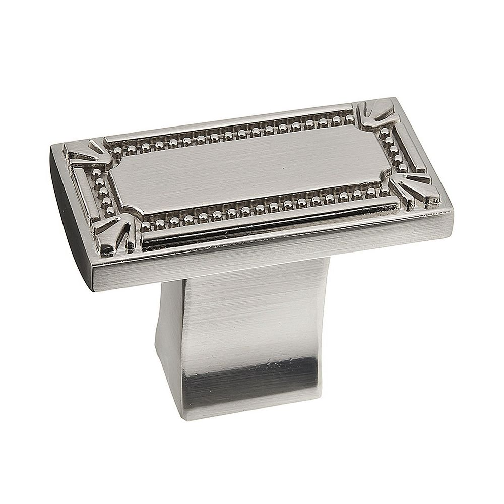 Richelieu Brossard Collection 1 11/16 in (43 mm) x 7/8 in (22 mm) Brushed Nickel Traditional Cabinet Knob