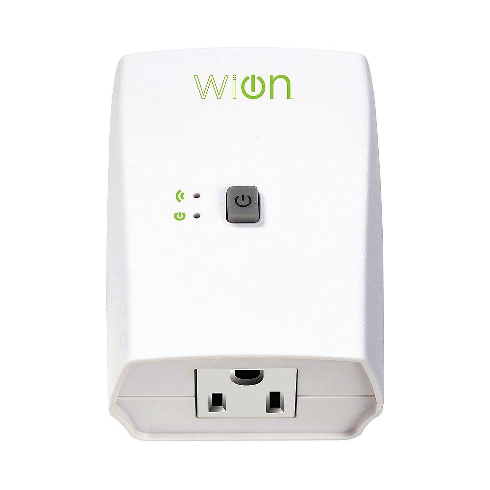 WiOn Prise interieure Wi-Fi avec interrupteur sans fil et minuterie programmable