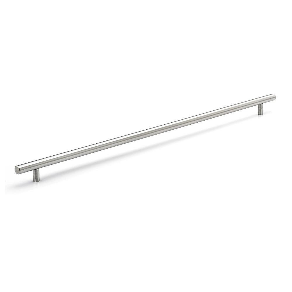 Richelieu Tivoli 22 1 8 Inch 562 Mm Center To Center Brushed Stainless Steel Contemporar The Home Depot Canada