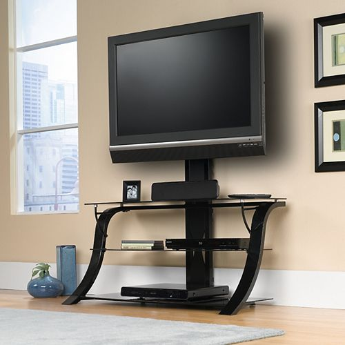Panel TV Stand w/ Mount in Black