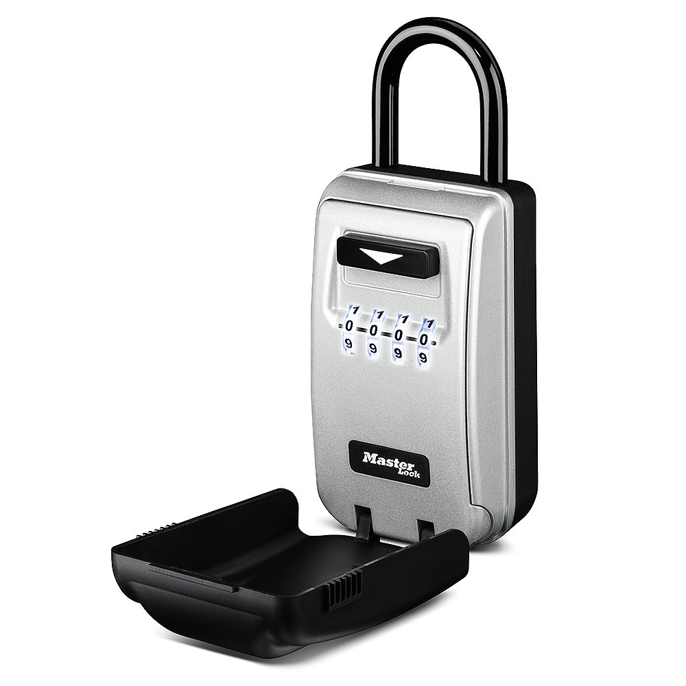 Master Lock 2-7/8 inch (72mm) Wide Set Your Own Combination Light Up Dial Portable Lock Box