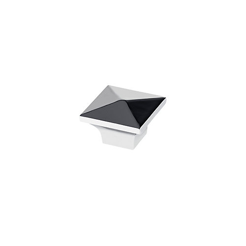 Contemporary Metal Knob  Chrome - McKenzie Collection