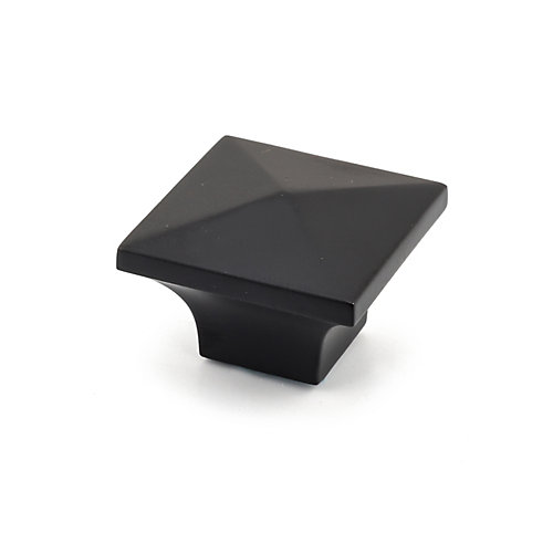 Contemporary Metal Knob  Matte Black - McKenzie Collection