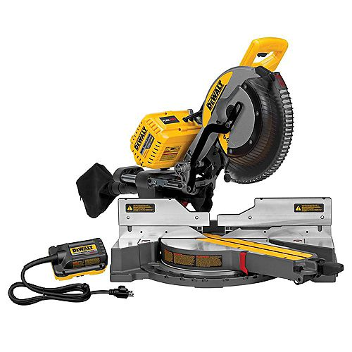 FLEXVOLT 120V MAX Lithium-Ion Cordless Brushless 12-inch Sliding Miter Saw w/ AC Adapter (Tool-Only)