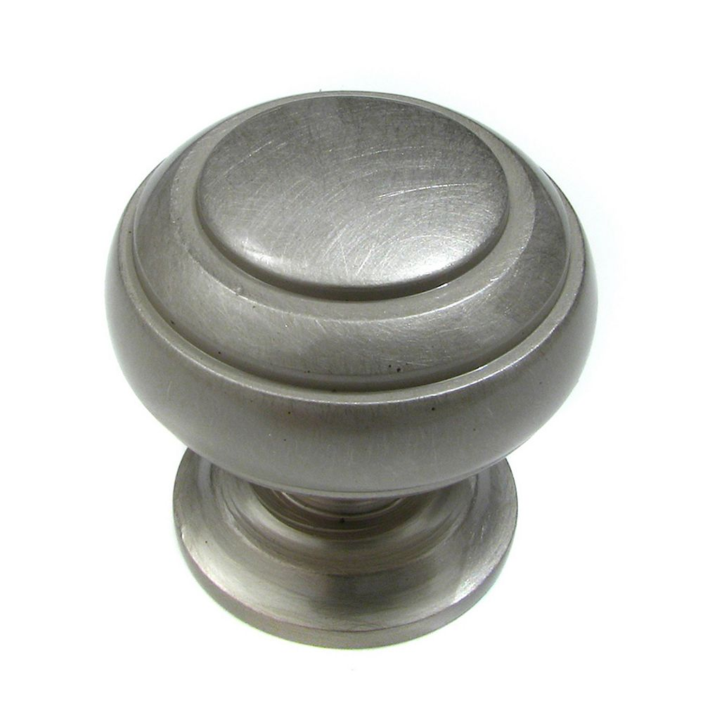 Richelieu Sorel Collection 1 1/4 in (32 mm) Brushed Nickel Traditional Cabinet Knob