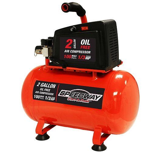 2-Gallon Oil Free Air compressor- Hotdog style