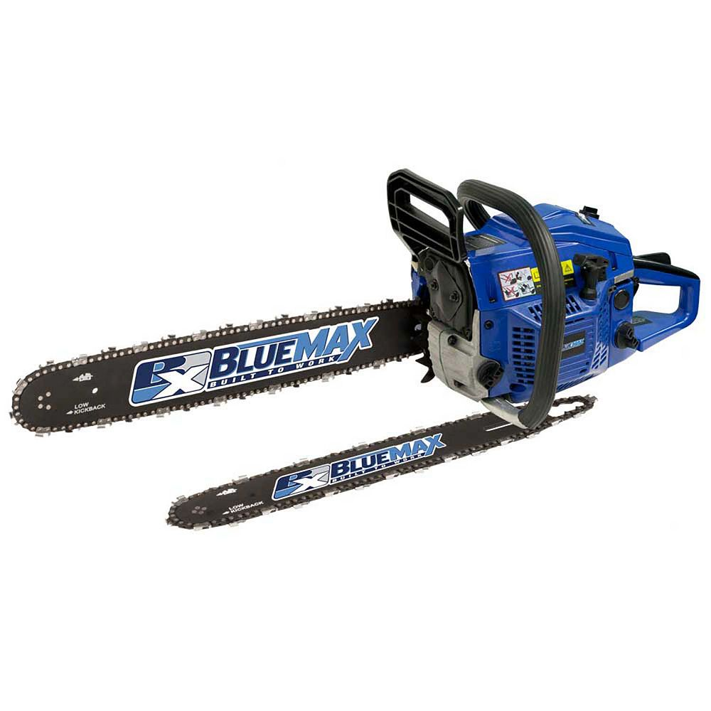 Blue Max 20-inch 45cc Gas Chainsaw with Additional 14-inch Bar and Chain