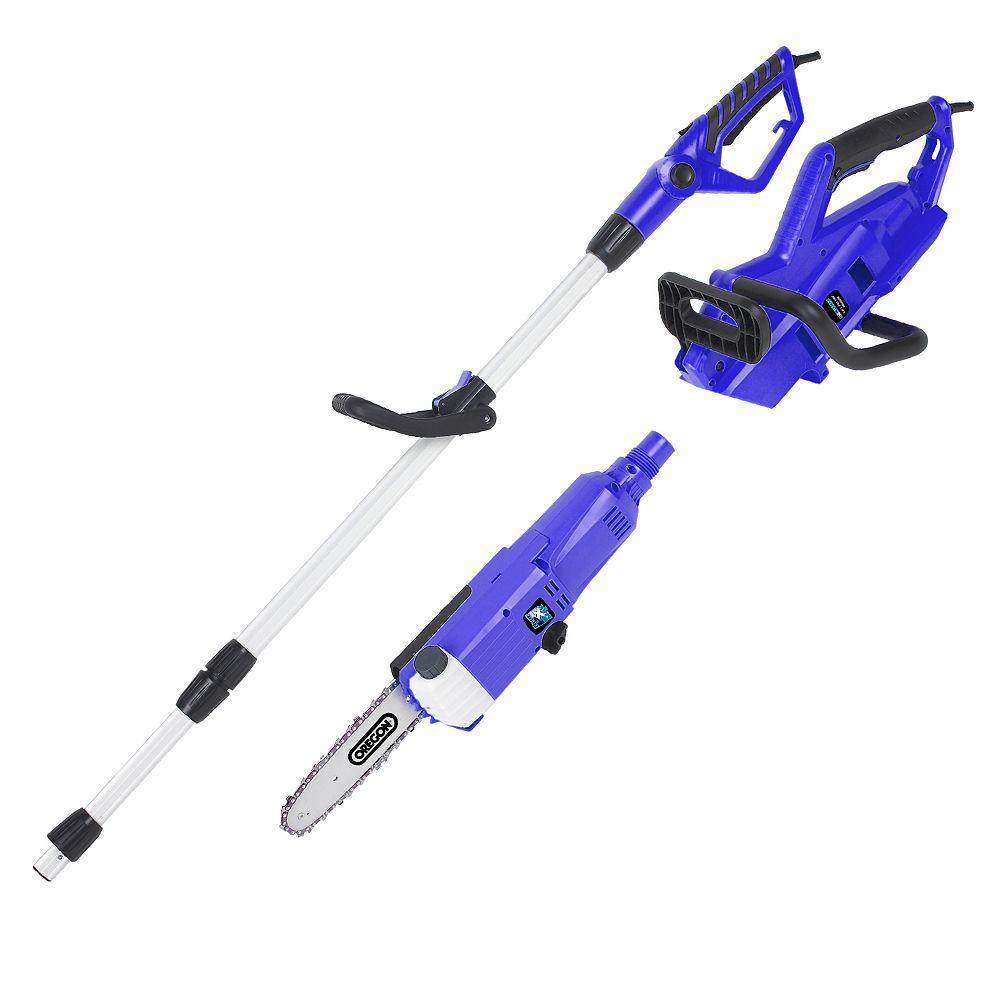 Blue Max Blue Max 2 en 1 Scie à Chaîne Portable et Scie de Pôle Télescopique Côtelée