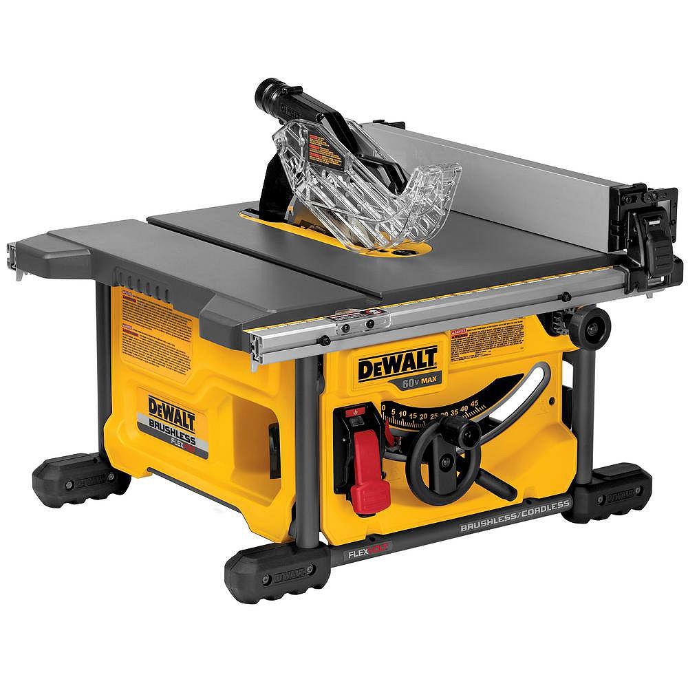 DEWALT FLEXVOLT 60V MAX Lithium-Ion Cordless Brushless 8-1/4-inch Table Saw (Tool-Only)