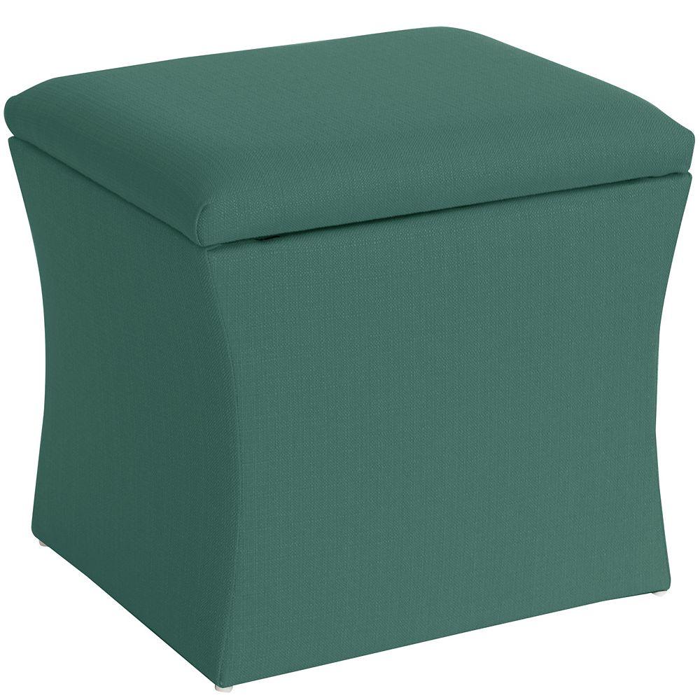 Skyline Furniture Pouf, 19po x 19po x 17po, vert