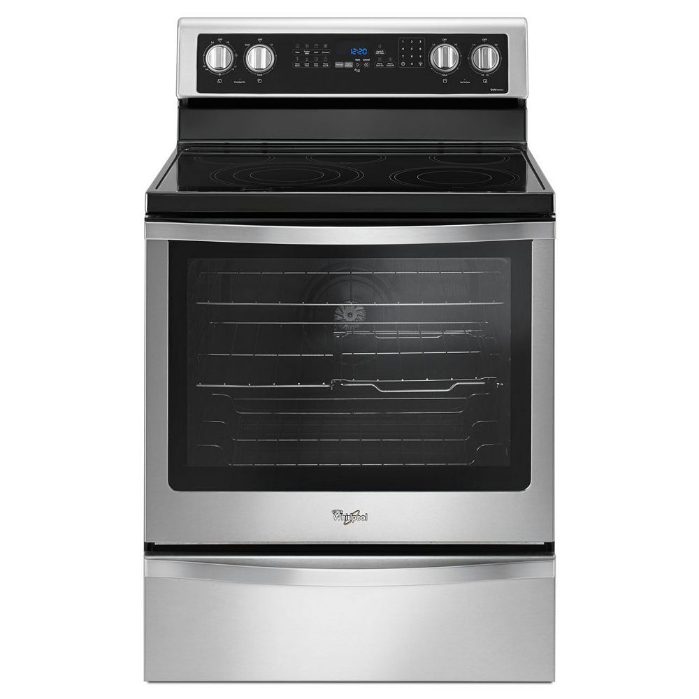 Whirlpool 6.4 cu. ft. Electric Range with Self-Cleaning Convection Oven in Stainless Steel