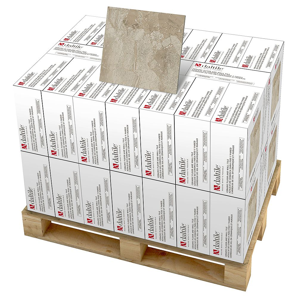 Dal Tile Marble Falls 12-inch x 12-inch Ceramic Floor and Wall Tile in Highland Beige (594 sq. ft./pallet)