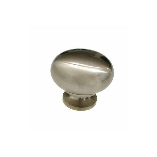Richelieu Gatineau Collection 1 1/2-inch (38 mm) Brushed Nickel Traditional Cabinet Knob
