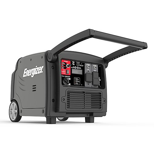 Energizer eZV3200: 3,200W Portable Gas Powered Inverter Generator with Electric and Remote Start