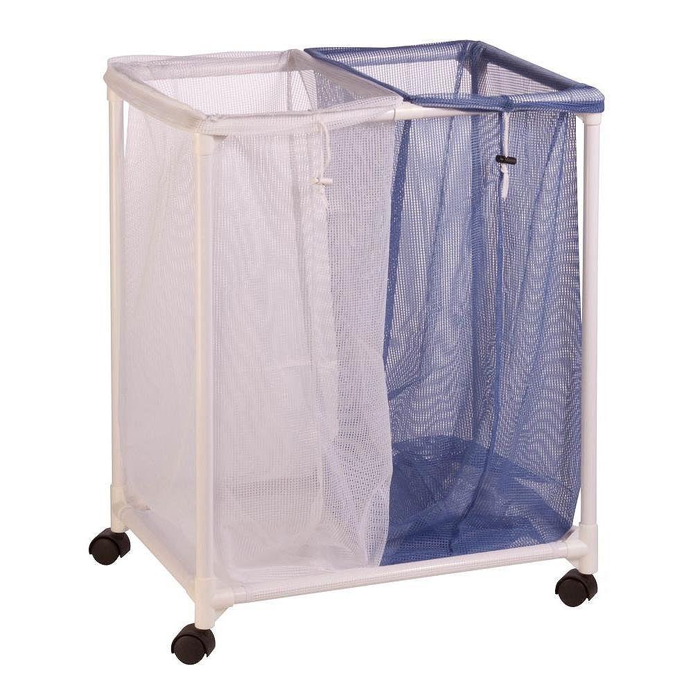 Honey-Can-Do 2-Bag Mesh Laundry Sorter Hamper