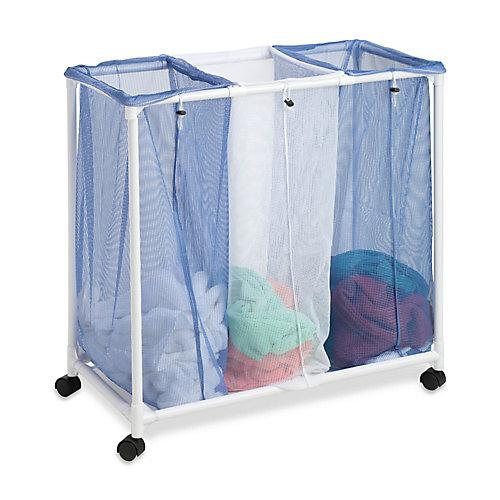3-Bag Mesh Laundry Sorter Hamper