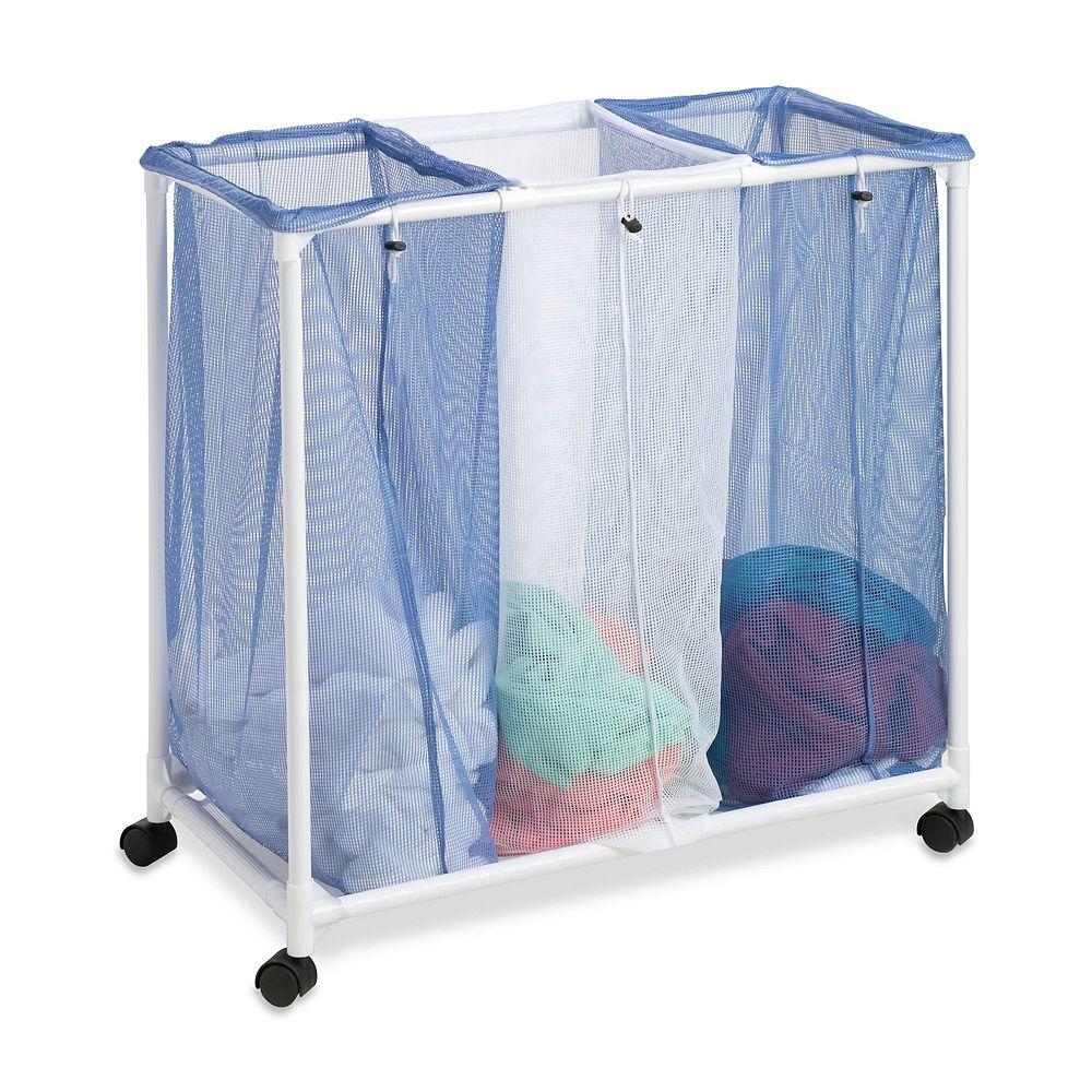 Honey-Can-Do 3-Bag Mesh Laundry Sorter Hamper
