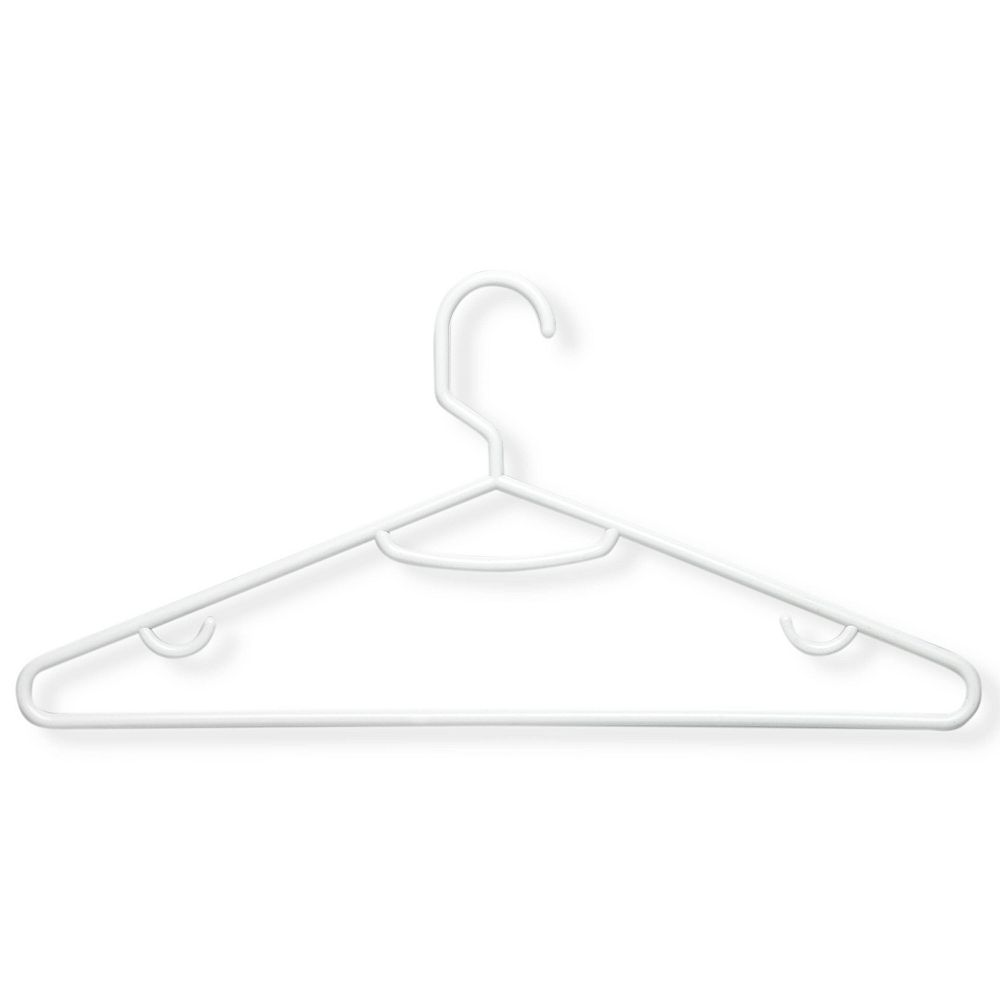 Honey-Can-Do Brilliant White Plastic Hangers (60-Pack)