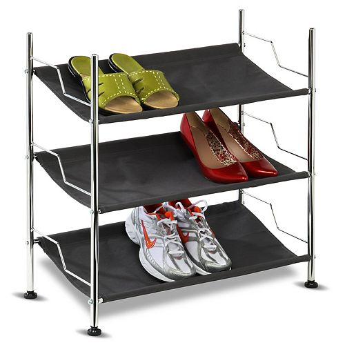Honey-Can-Do 3-Tier Canvas Shoe Rack