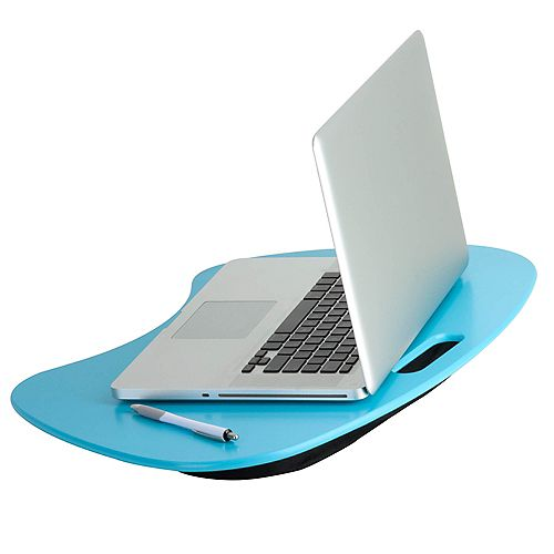 Portable Laptop Desk with Built-in Handle, Blue