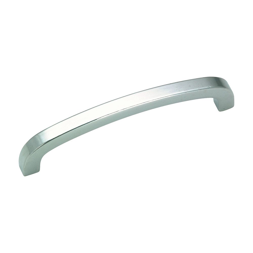 Richelieu Wadsworth Collection 3 3/4 in (96 mm) Center-to-Center Satin Chrome Contemporary Cabinet Pull