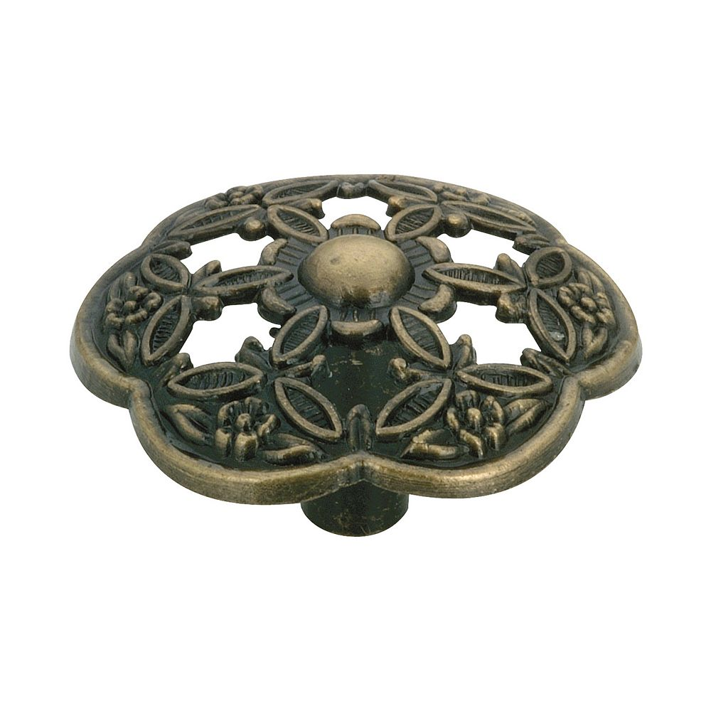 Richelieu 1 21/16 in (42 mm) Antique English Traditional Cabinet Knob
