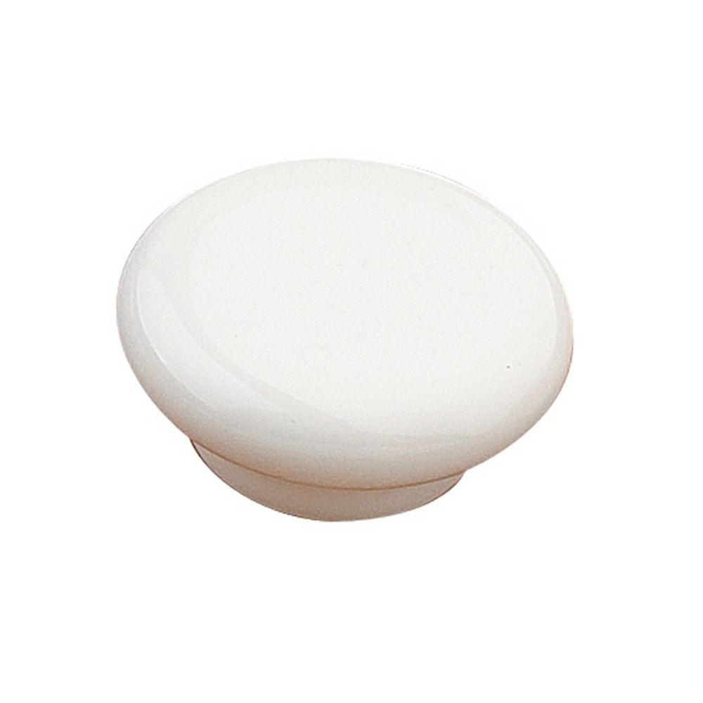 Richelieu Cherbourg Collection 2 3/32 in (53 mm) White Contemporary Cabinet Knob