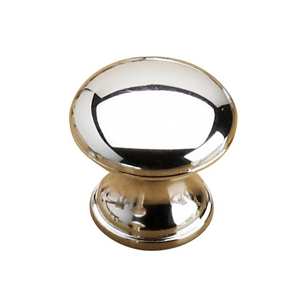 Richelieu Villeray Collection 1 3/16 in (30 mm) Chrome Contemporary Cabinet Knob