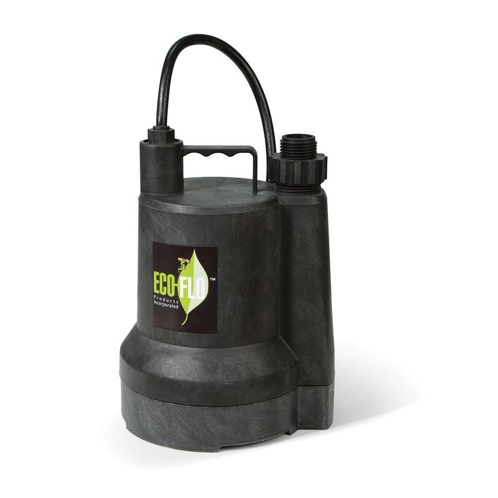 ECOFLO Submersible Utility Pump, 1/4HP