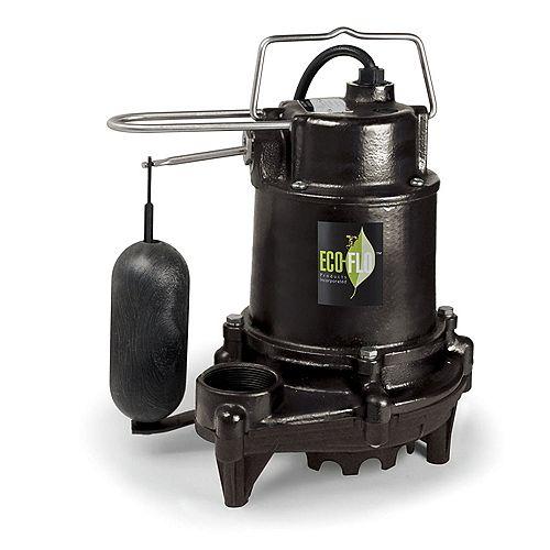 Sump Pump, Submersible, 1/2HP, CI, Pro Vert Sw